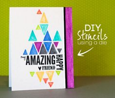 create a die cut stencil to use with my Inktense Pencils…  | Jennifer McGuire Ink