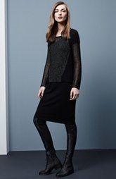 Eileen Fisher Sweater, Midi Dress & Leather Trimmed Leggings