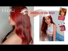VLOG: DYING HAIR RED