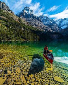 Crystal clear water of Lake O'Hara, Yoho National Park, BC, Canada | Photography by © Jonathan Zhang #earthofficial