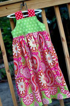 Girl's Reverse Knot Dress Gypsy Bandana by MonkeyStyleBoutique, $41.00