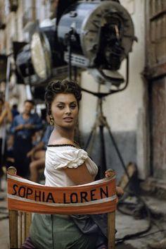 ROME—A pin-up pose of Sophia Loren, 1955.  © David Seymour / Magnum Photos
