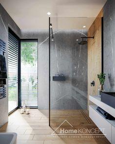 Projekt domu HomeKONCEPT-70 | HomeKONCEPT Modern Small Bathrooms, Modern Baths, Modern Bathroom Design, Bathroom Interior Design, Kitchen Interior, Bathroom Spa, Bathroom Colors, Interior Design Living Room Warm, Bathroom Design Inspiration
