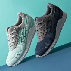 Featuring the classic split tongue, the Asics Gel-Lyte III Trainer is available in 'Mint/White' & 'Navy/Grey'.