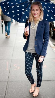 I own pants like this, but love the blazer/sweater combo