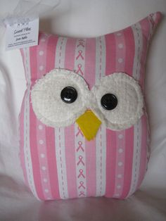 Hooters Stuffed Owl Pillow Sue Featuring Breast by sweetpitas, $14.00