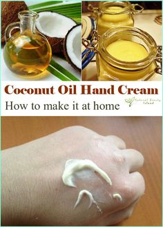 http://www.nowcitys.com/health-beauty/skincare/ Coconut Oil Hand Cream - how to make it at home
