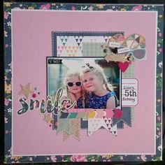 """Scrapbook layout by Beth Moloney using Simple Stories """"So Fancy"""" collection"""