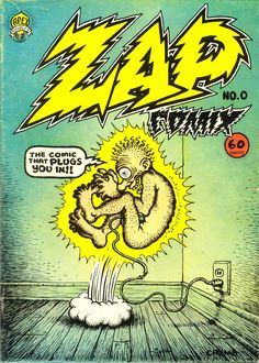 R. Crumb's cover for Zap Comix #0, 1968.
