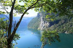 Geirangerfjord as seen from Skagafla - Norway