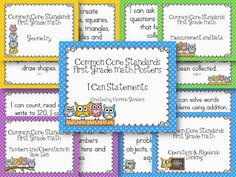 First Grade Common Core Owls