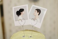 Polaroid Cake Topper {Our Handmade Wedding: A Labor of Love}