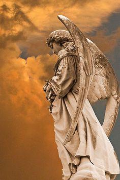 'Look Homeward Angel' Art Print by Jan Cartwright Cemetery Angels, Cemetery Art, Angels Among Us, Angels And Demons, Statue Ange, Greek Statues, I Believe In Angels, Ange Demon, Guardian Angels