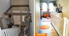 Užitočný nápad ako premeniť nevyužitý priestor nad schodmi na niečo užitočné. Izba pre deti, kútik pre Vás alebo šatník. Premena nevyužitého priestoru