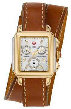 two tone double wrapped watch