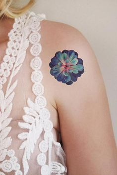 Succulent temporary tattoo