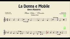 La Donna e Mobile  Partitura de Flauta Facíl Ópera Rigoletto