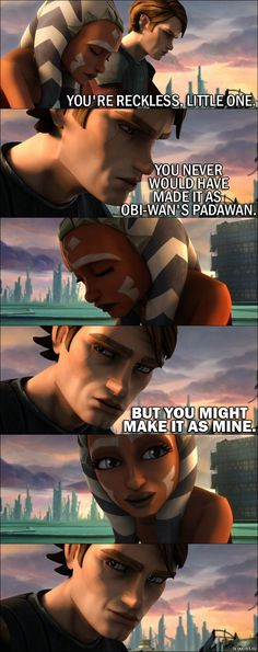 Enjoy the best quotes from the movie Star Wars: The Clone Wars. This movie is a prequel to The Clone Wars TV show and sometimes labeled as 0x00 or s00e00.