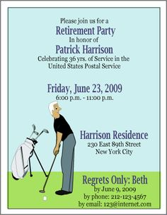 Elegant Retirement Invitations is good invitation example