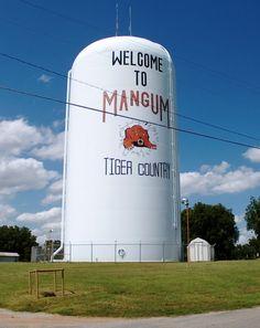Mangum Oklahoma city of the Mangum Tigers