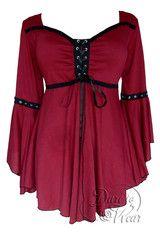 Dare To Wear Victorian Gothic Women's Ophelia Corset Top Burgundy