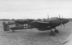 Messerschmitt Bf 110 - fearsome armament but (fatally) a poor turning circle.