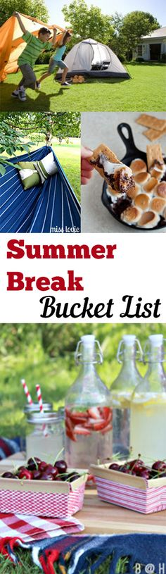 Summer Break Bucket List