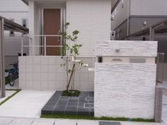 おしゃれな門柱で彩るエクステリア 名古屋市3