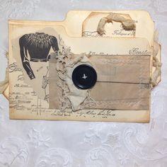 JOURNAL FILE FOLDER - @thefireflystudi67 on Instagram - #vintagejournals #vintagejournal #junkjournaling #vintagejournal #paperlove #papercraft #vintagelove