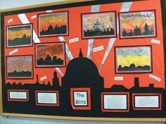 Year 6 The Blitz - Cleadon Village Church Of England VA Primary School - Display Primary School Displays, Teaching Displays, Class Displays, Classroom Displays, Primary Teaching, Teaching Social Studies, Teaching History, Primary Education, Teaching Ideas