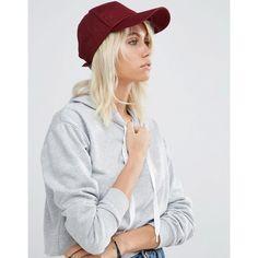ASOS Plain Baseball Cap ($13) ❤ liked on Polyvore featuring accessories, hats, red, strap baseball cap, ball cap hats, baseball cap hats, baseball hats and crown baseball cap