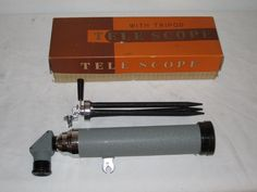 * VINTAGE TELESCOPE WITH TRI POD MADE IN JAPAN MARSHALL FIELD & CO *