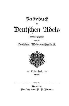 Jahrbuch des Deutschen Adels digitalisiert » Das Thema in diesem Blog heißt Genealogie und Ahnenforschung