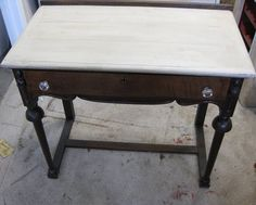 Small Desk/Makeup Table to use as vanity in closet. Store make up inside