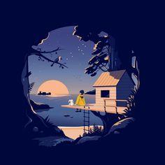 how to illustrator Illustration Design Plat, Graphic Illustration, Night Illustration, Arte 8 Bits, Scenery Wallpaper, Anime Scenery, Art Design, Aesthetic Art, Vector Art