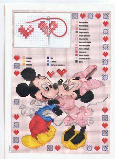 Minnie e Mickey Mouse beijo