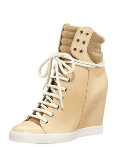 High-Top Wedge Sneaker by See by Chloe at Bergdorf Goodman.