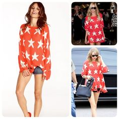 Authentic Wildfox star sweater xs only worn once,❌NO TRADE‼️ Wildfox Sweaters
