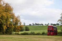Clare West Photography - Wedding Photography - Kelmarsh Hall - Big Red Wedding Bus