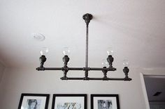 Build a chandelier from pipes