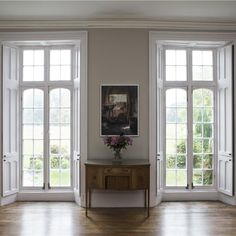 Farrow & Ball Elephant's Breath in the living room, looks great with white ceiling and trim. Farrow And Ball Living Room, Living Room Paint, Living Room Sets, Rugs In Living Room, Living Room Decor, Room Rugs, Curtains Living, Farrow Ball, Farrow And Ball Paint