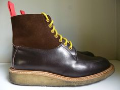 Trickers LEO Chocolate Leather Suede TWO Tone Shooting Boots Crepe Sole UK 7 | eBay