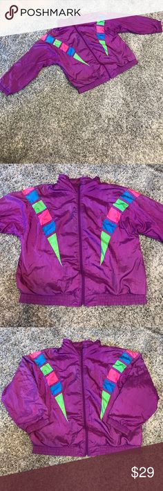 Lavon Vintage VTG Windbreaker Track Jacket Awesome vintage Windbreaker! Beautiful colors and overall great condition for its age! There is some piling in the inside and a small stain on the inside left arm (on inner lining, not on the outside). Small ink pen mark on the front- see pictures. This is a vintage item! Reasonable offers accepted! Bundle for a private discount! Lavon Jackets & Coats