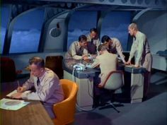 A routine assignment on board the submarine Seaview from Irwin Allen's Voyage to the Bottom of the Sea 1960's tv show.