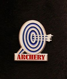 Blue Faced Enameled Archery Pin  Cap Pin Made of Pewter Custom Made in the USA