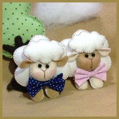 Lindas ovelhas com laços de tecido poà. Pode alterar as cores .consultar vendedor.