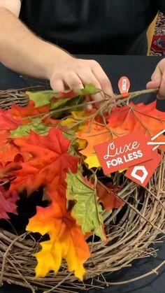 Diy Home Crafts, Diy Arts And Crafts, Decor Crafts, Halloween Crafts, Holiday Crafts, Diy Autumn Crafts, Wreath Crafts, Diy Wreath, Harvest Decorations