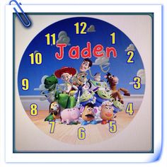 Toy Story Personalized Wall Clock on Etsy, $19.99