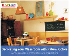 Decorating Classrooms with Natural Colors http://www.kaplanco.com/decorate-natural-colors