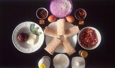 Ingredients for Canederli africanized